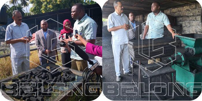 Tanzania-customer-charcoal-processing-plant
