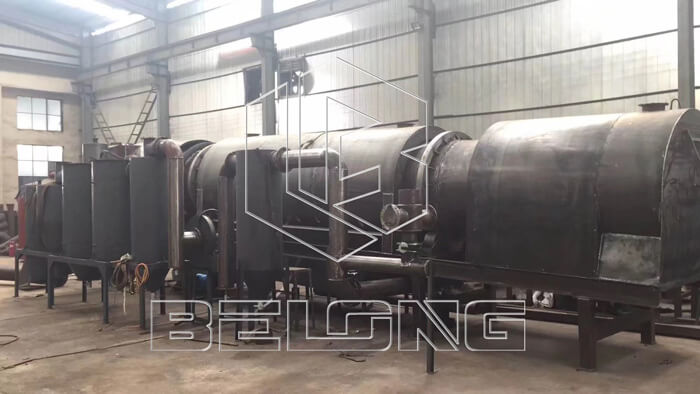 Continuous charbonization furnace for making rice husk charcoal