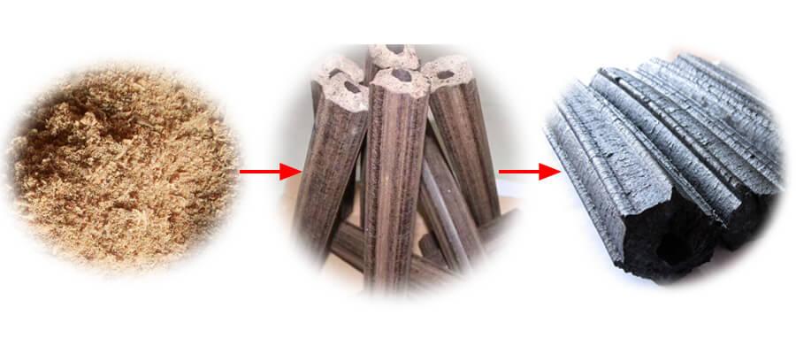 sawdust-briquettes-charcoal
