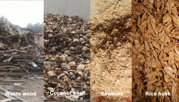 biomass materials for making charcoal