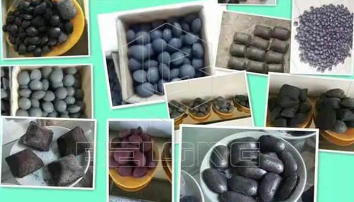Different-shape-briquettes