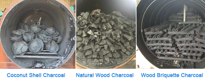 Charcoal-produced-by-horizontal-airflow-carbonization-furnace