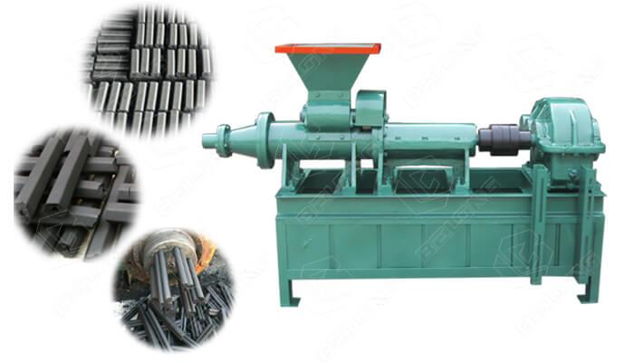 Charcoal extruder machine