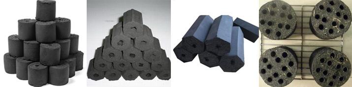 Diffrent shapes punching charcoal briquettes