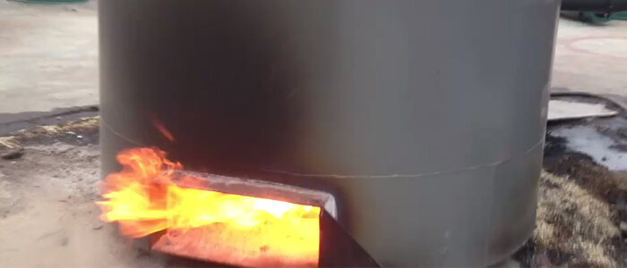 combustible gas burning for heating carbonizer machine